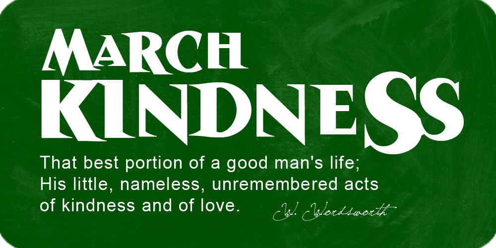March Kindness at Cross Points Church in Shawnee, Kansas