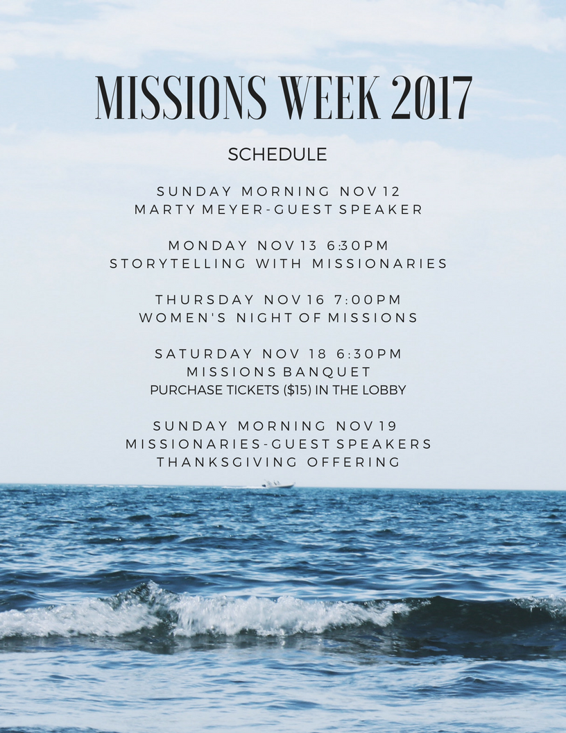 Copy of MISSIONS WEEK 2017